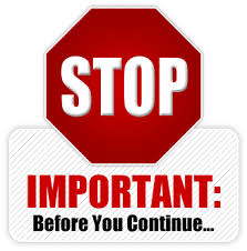 STOP: IMPORTANT: Before you continue